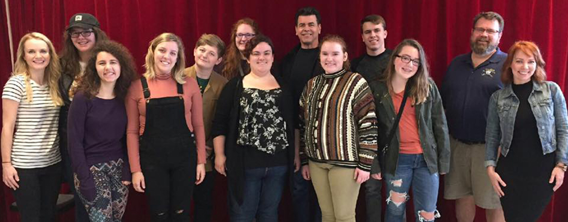 Carmel High School Drama Class enjoying some time in NYC including a workshop with Carmel grad and Broadway star Sarah Litzinger!