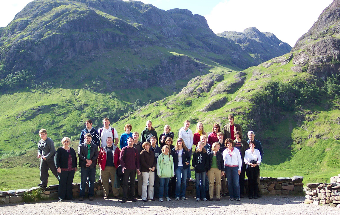 Teri Aitchison sharing a memory with Zionsville Orchestra exploring Glen Coe, Scotland.