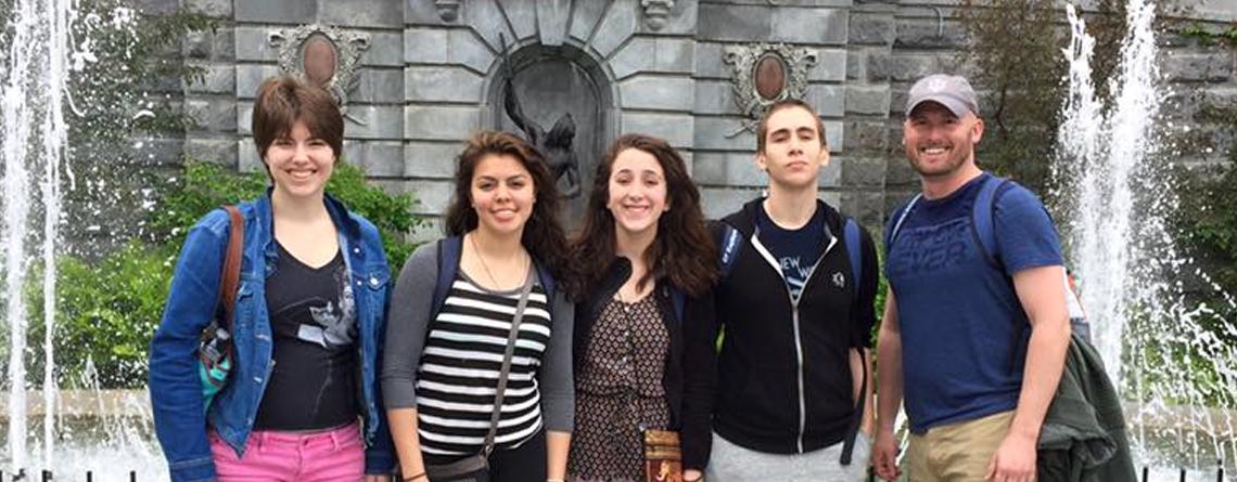 Quebec Parliament with Ben Davis HS (IN) students in 2016