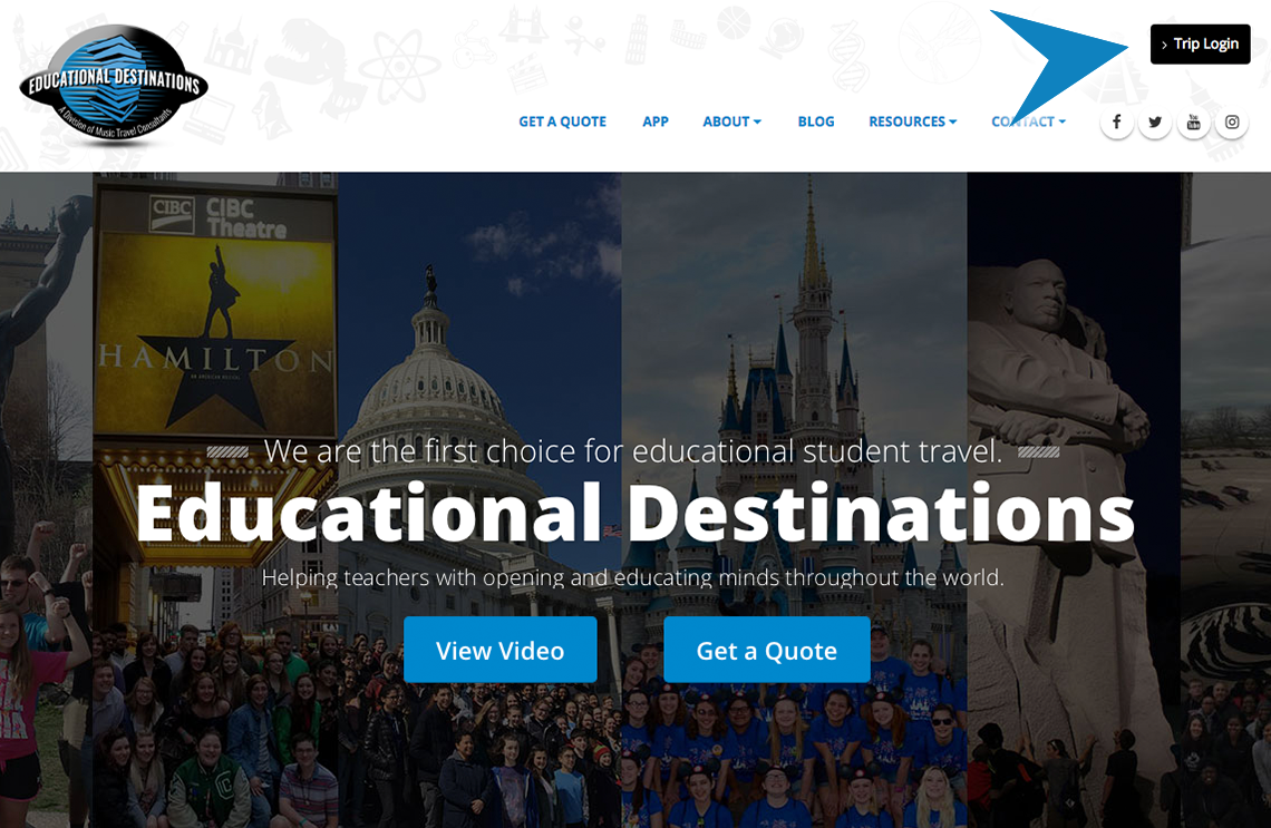 Userguide for Educational Destinations.